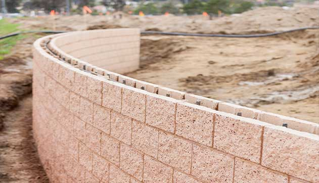 Retaining Wall Construction Services in Ramsey